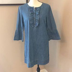 Draper James chambray shift dress, Size 8
